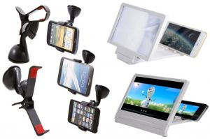 Ksj Mobile Stand Car Holder With 3d Phone Magnifier