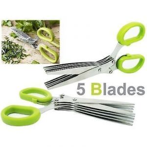 5 Blades Scissors Vegetable Chopper Paper Shredder Scissor Buy 1 Get 1 Free