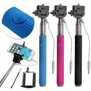 Mini Selfie Stick With Aux Cable For All Smart Phones And Android Phones