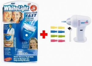 Buy 1 White Light Teeth Whitening System Kit Get 1 Waxvac Ear Cleaner Free