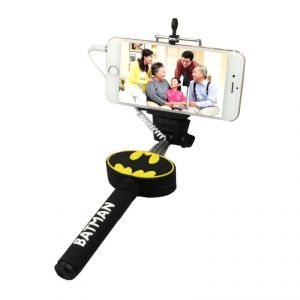 Batman Selfie Stick With 3.5 MM Aux Cable Monopod (no Need Of Bluetooth )