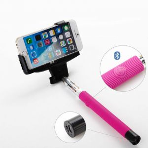Dorten Bluetooth Smartphone Camera Extendable Selfie Stick - Pink