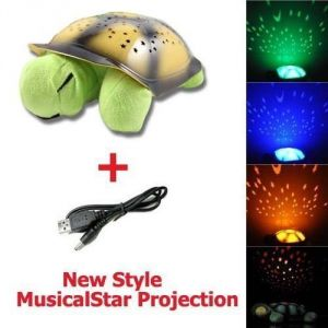 Kids Turtle Night Light Star Constellation LED Child Sleeping Night Lamp