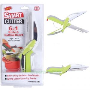 Colorful Newest Clever Cutter 6-in-1 Knife Cutting Board Scissors