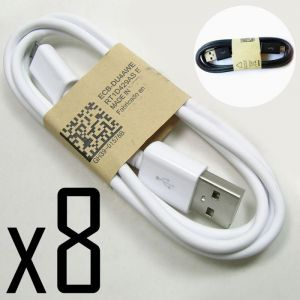 3ft 8 Pack USB 2.0 A To Micro B Data Sync Charge Cable Cord 1m