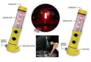 Led lights for cars - Set Of 2 Car 5in1 Tourch Flashlight Hammer