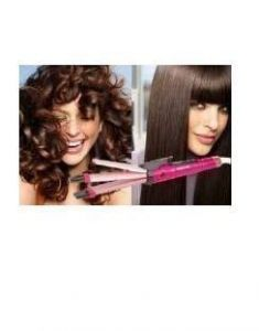 Nova Professional 2 In 1 Hair Straightener Curling Iron