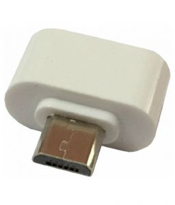 Mini Otg Adapter For Micro USB Mobile Phones (white Color)