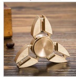6th Dimensions Metal Tri-spinner Fidget Stressreducer-perfect For Add, Adhd, Anxiety Crab Claw