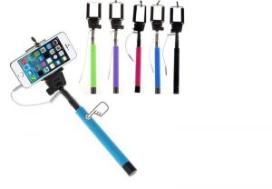 Monopod Extendable Selfie Stick With 3.5mm Aux Cable For Intex Aqua T4