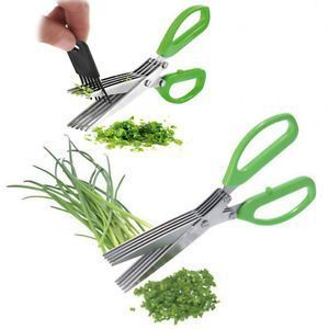 Steel Blades Multifunction 5 Blades Scissors-vegetable Chopper-paper Shredd