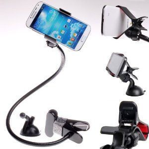 0a5102bcb3d Universal Gooseneck Bed Mobile Car Holder For Smartphone iPhone S4 S5 Note