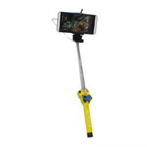 Despicable Selfie Stick Monopod With 3.5mm Aux Cable For Android, iPhone