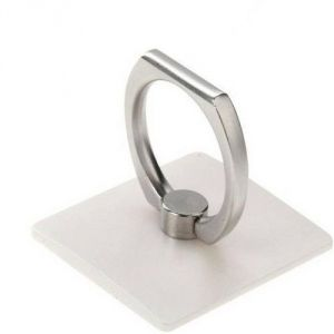 Vu4 Finger Grip Ring Stand Silver Mobile Holder