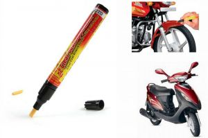 Bike accessories - Spidy Moto Auto Smart Coat Paint Scratch Repair Remover Touch Up Pen For Mahindra Scooter Flyte