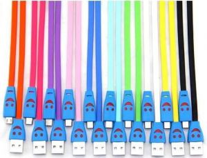 Genuine Micro USB Smiley Lightening Data Cable For Samsung Galaxy Chat B5330, Core Advance, Core I8260, Lte, Core Plus Free Shipping