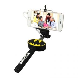 Batman Selfie Stick With 3.5 MM Aux Cable Monopod