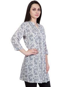 Hive91 Printed Black And White Tunic (Code - RH50TUWH)