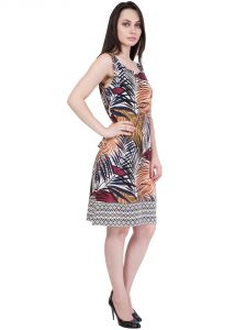 Hive91 Printed Western Dress For Women (code - Rh46drmc)