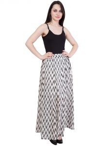 Hive91 Printed  Regular A Line  White Skirt For Women (Code - RH65KBW)