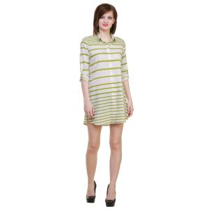 Hive91 Striped Womens Long Shirt (Code - RH13SHGR)