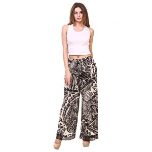 Hive91 Abstract Black Print Womens Plazzo (code - Rh19plbw)