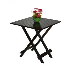 Woodworld Coffee Table Patio Garden And Outdoor Furniture Square Top Folding Table Black