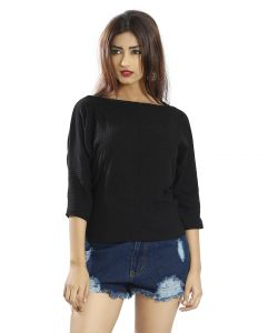 Snob Bee Black Knit Up Top (code - 19751d294igh_black)
