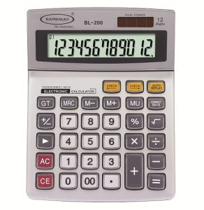 Bambalio12 Digit Electronic Calculator With Large Display And 2 Years Warranty Bl-200