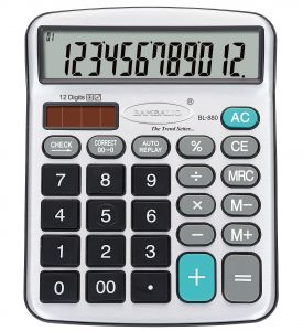 Bambalio 12 Digits Electronic Calculator With Big Display & Metallic Panel 2 Years Warranty- Bl-880