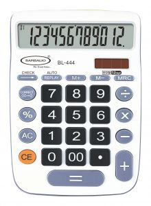 Bambalio 12 Digits Big Display Electronic Calculator (white) With 2 Years Warranty Bl-444w