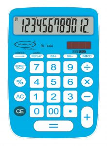 Bambalio 12 Digits Big Display Electronic Calculator (blue) With 2 Years Warranty Bl-444b