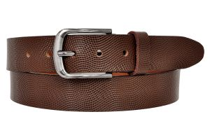 Ajeraa Mens Geniune Leather Belt ( Code - Ajeraa_brown_leatherbelt_0033 )