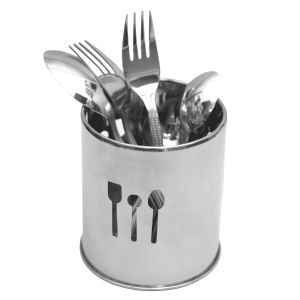 Utensil Racks, Holders - A-Plus 18 Pieces Classic Cutlery Set with Holder