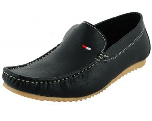Loafers (Men's) - LeatherKraft Mens Black Causal Loafers