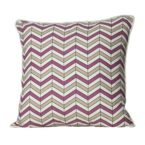 Monogram Multicolour Square Cotton Cushion Cover Hand Print-5 Pcs Set -Multicolour (Code - 552A1579)