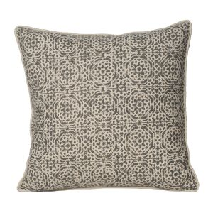 Monogram Camel Square Cotton Cushion Cover Hand Printed-5 PCs Set -camel (code - 552a1649)