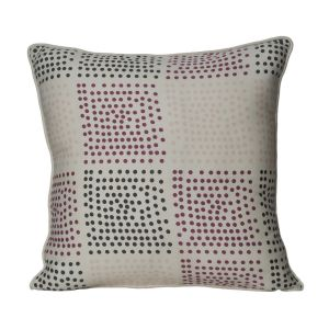 Monogram Multicolour Square Cotton Cushion Cover Hand Print- 5 Pcs Set -Multicolour (Code-552A1726)