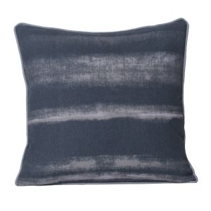Monogram Dark Grey Square Cotton Cushion Cover Hand Print-5 Pcs Set-Dark Grey (Code - 552A1754)