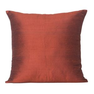 Monogram Rust Square Polyester Cushion Cover Solid Color -5 PCs Setrust (code - 552a1802)