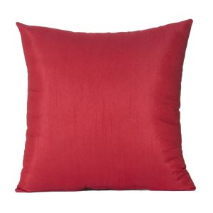 Monogram Red Square Polyester Cushion Cover Solid Colour -5 PCs Setred (code-552a1805)