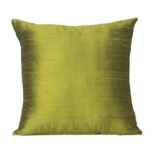 Monogram Green Square Polyester Cushion Cover Solid Colour -5 PCs Setgreen (code - 552a1808)