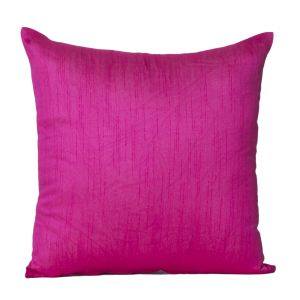 Monogram Dark Pink Square Polyester Cushion Cover Solid Colour-5 PCs Setdark Pink (code - 552a1810)