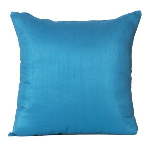Monogram Turquoise Square Polyester Cushion Cover Solid Colour-5 PCs Setturquoise (code - 552a1811)