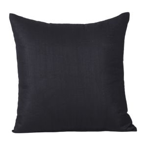 Monogram Black Square Polyester Cushion Cover Solid Colour-5 PCs Setblack (code - 552a1814)