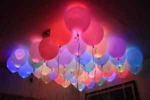 Decorative Lights - LED Balloons for Party Festival Celebrations (Pack of 10)