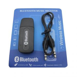 Wireless Car Bluetooth Music Receiver With 3.5 MM Connector, Adapter Dongle V2.1 Edr (black)
