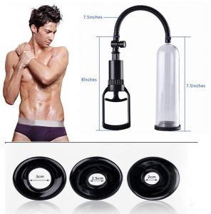 Penis Enlargement Pump With 3 Different Size Silicone Sleeves Plus Free Massage Oil