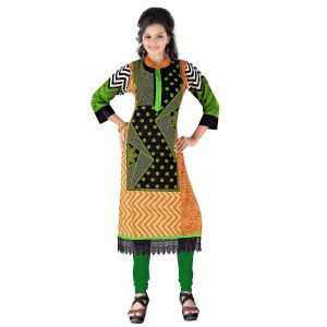 Vedik Style Womens Stitched Rust Cotton Kurti With 3/4th Sleeves(code - Jdh1516)