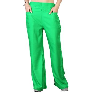 Vedik Style Womens Solid Green Regular Fit Palazzos(code-pz0109-g)